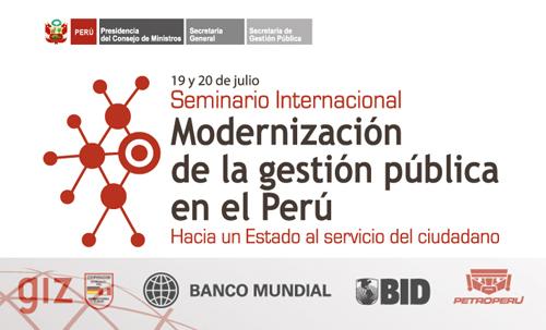 modernizacion gestion publica peru