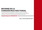 informe comision multisectorial