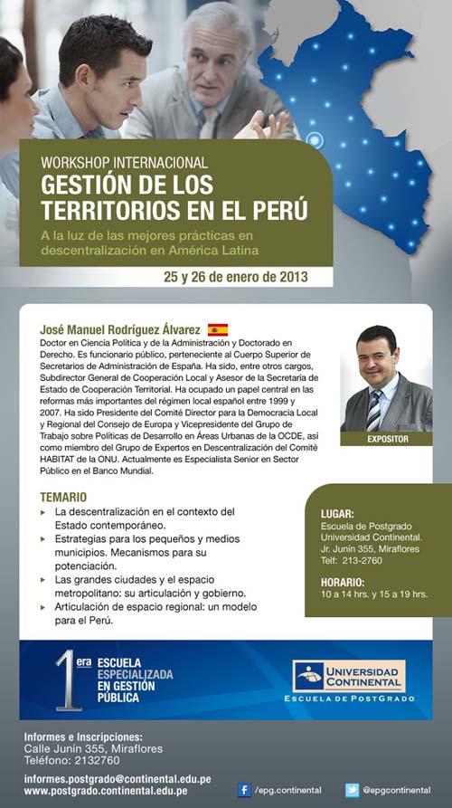 gestion de territorios peru