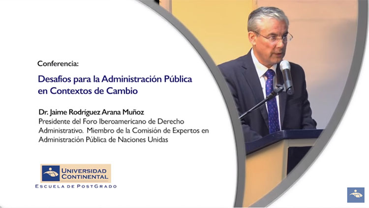 Conferencia desafíos para la administración pública