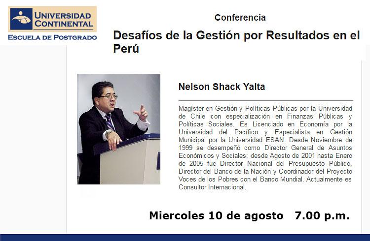 nelson shack conferencia