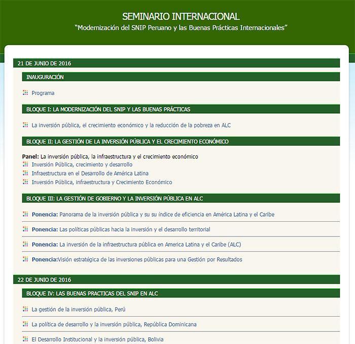 seminario internacional mef