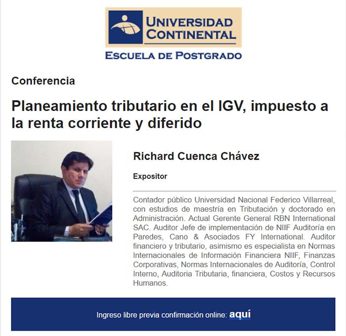 conferencia igv